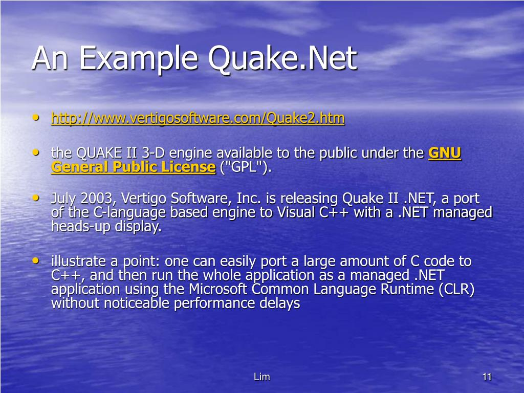 An Example Quake.Net