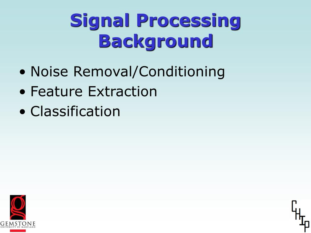 Signal Processing Background