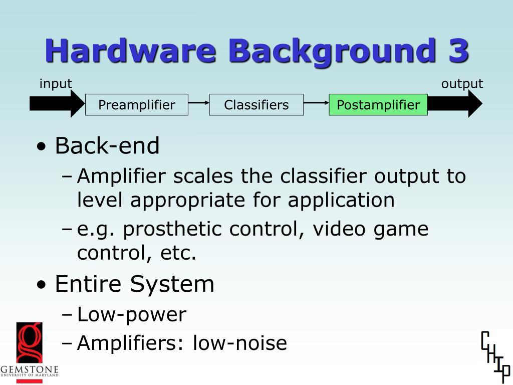 Hardware Background 3