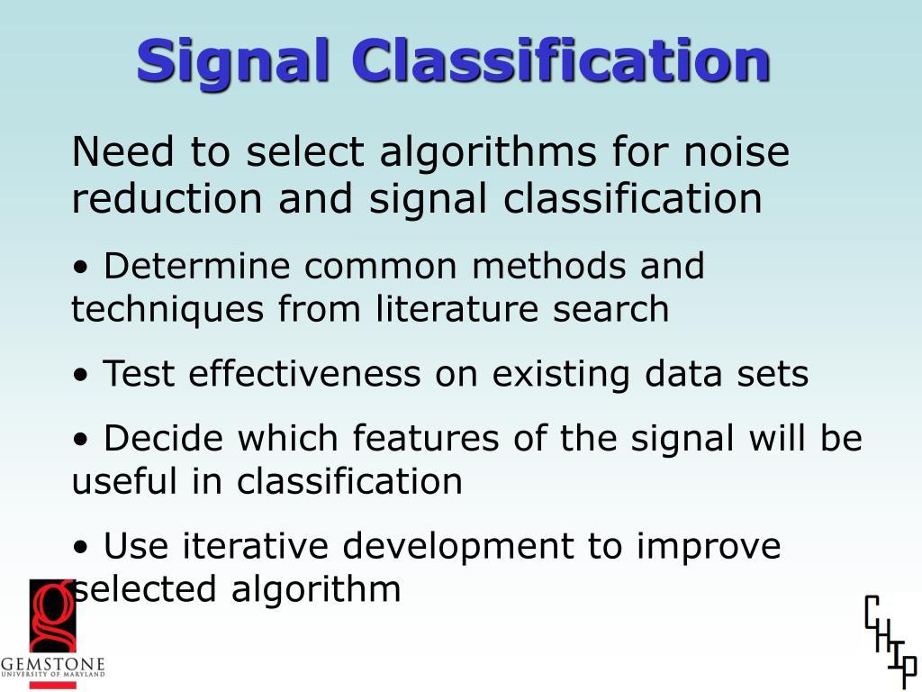 Signal Classification