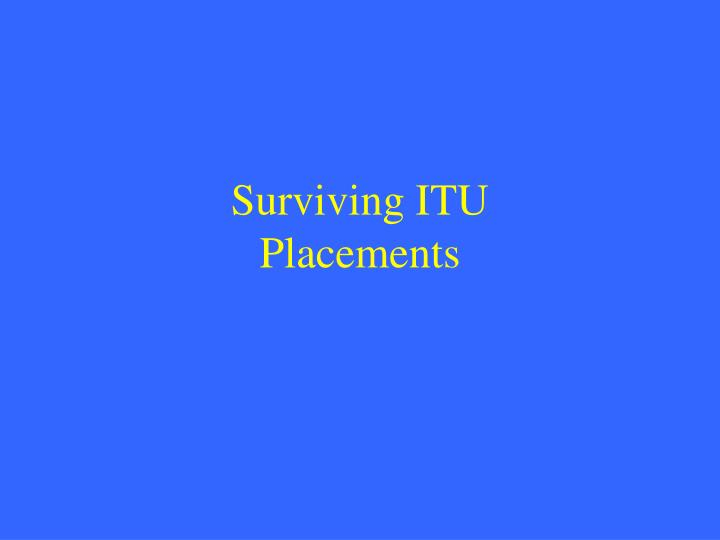 Surviving itu placements