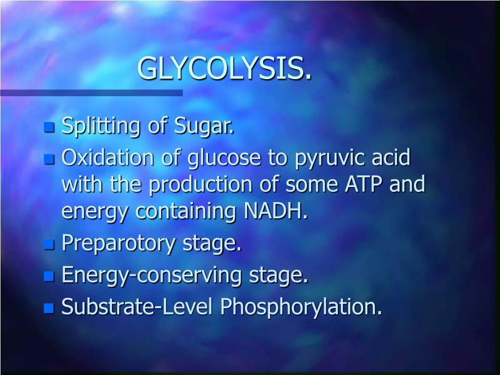 GLYCOLYSIS.