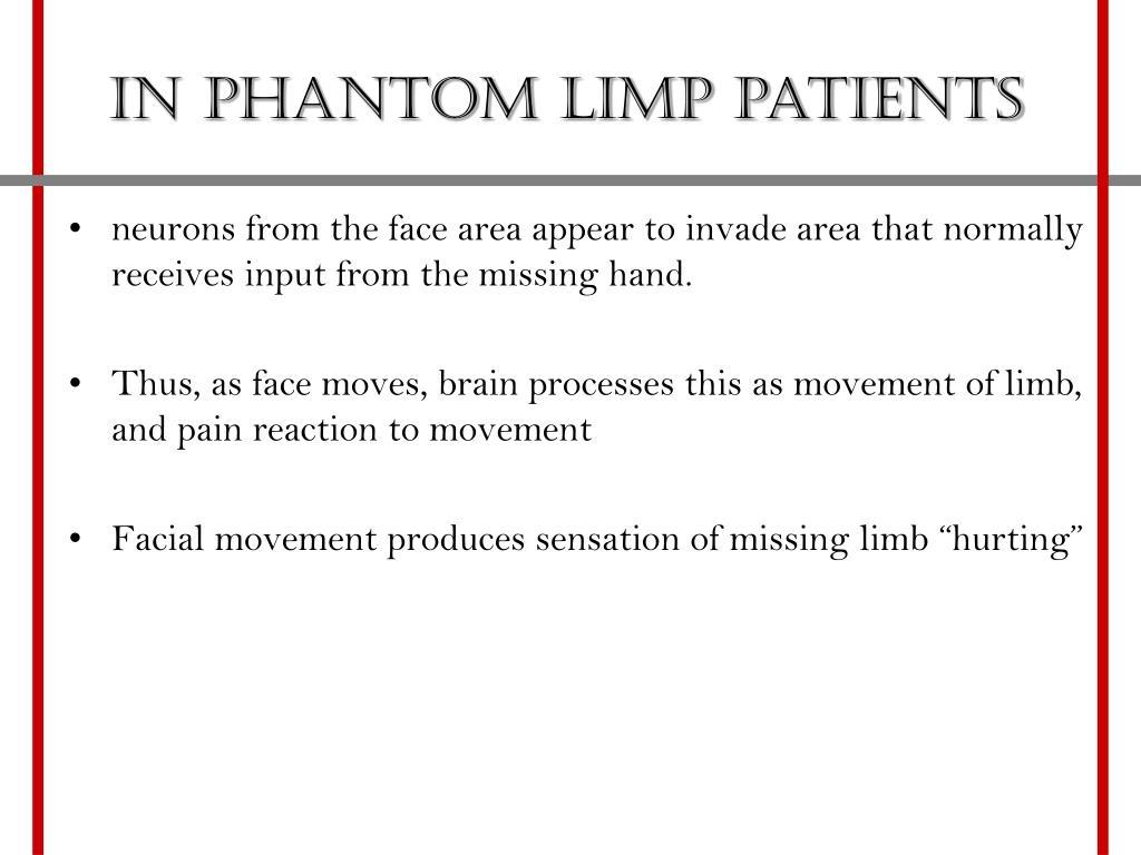 In Phantom Limp patients