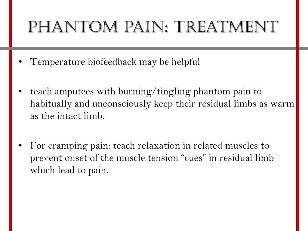 Phantom pain: Treatment