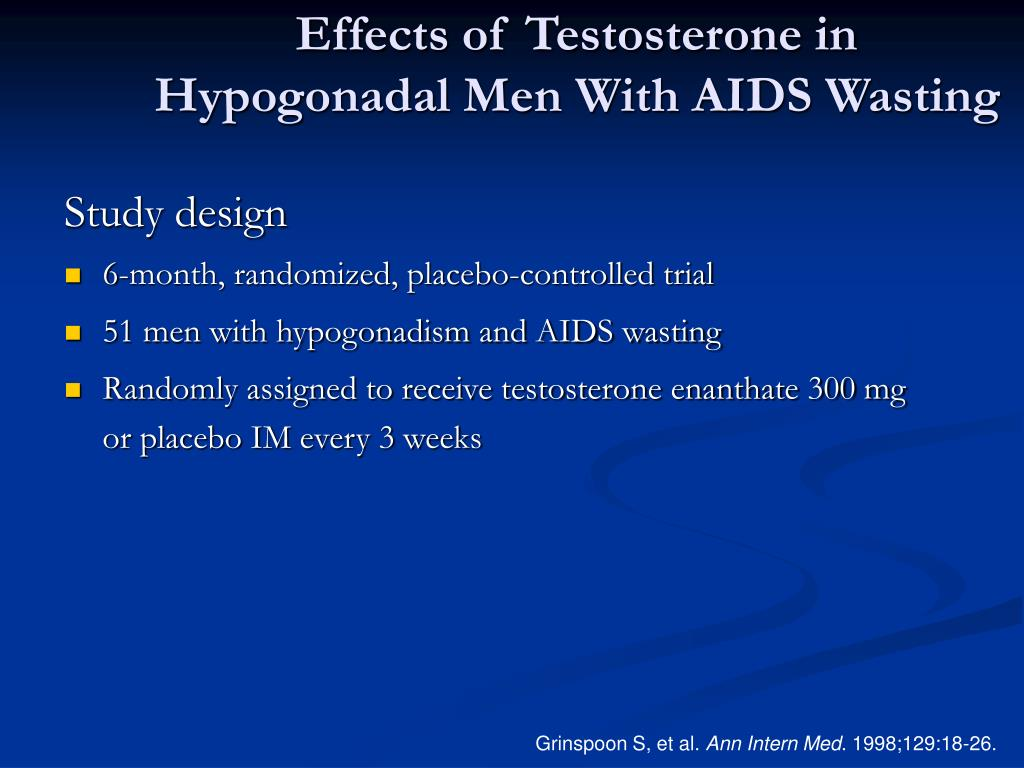 Effects of Testosterone in