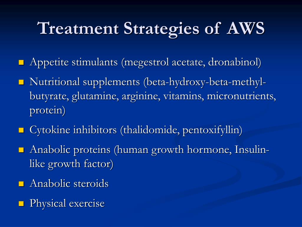 Treatment Strategies of AWS