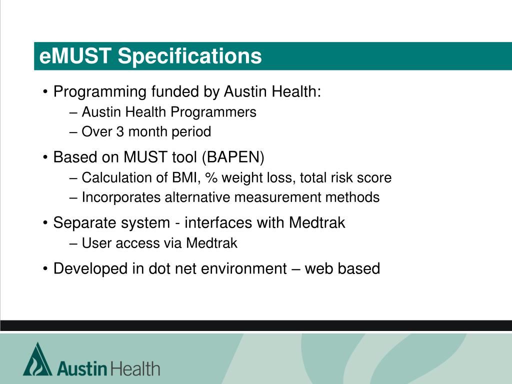eMUST Specifications