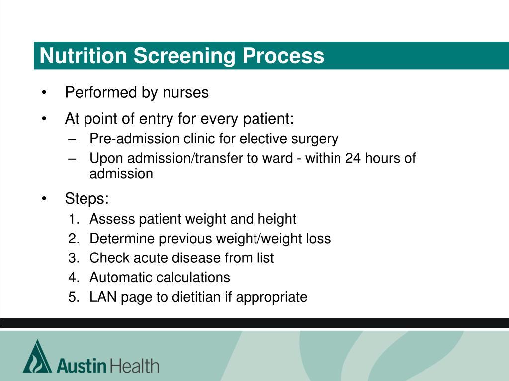 Nutrition Screening Process