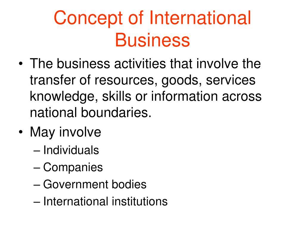 Concept of International Business