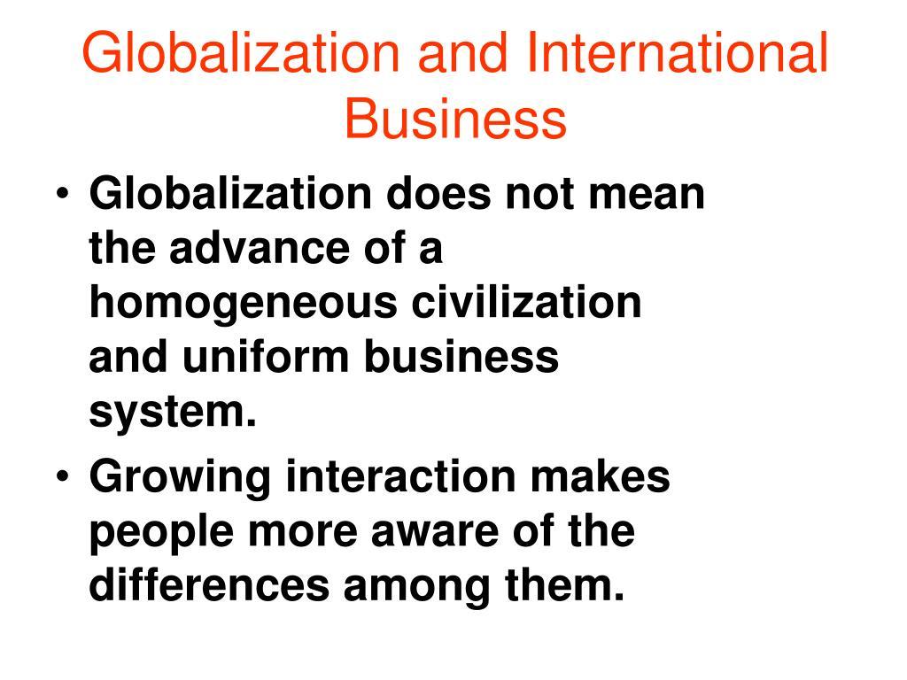 Globalization and International Business