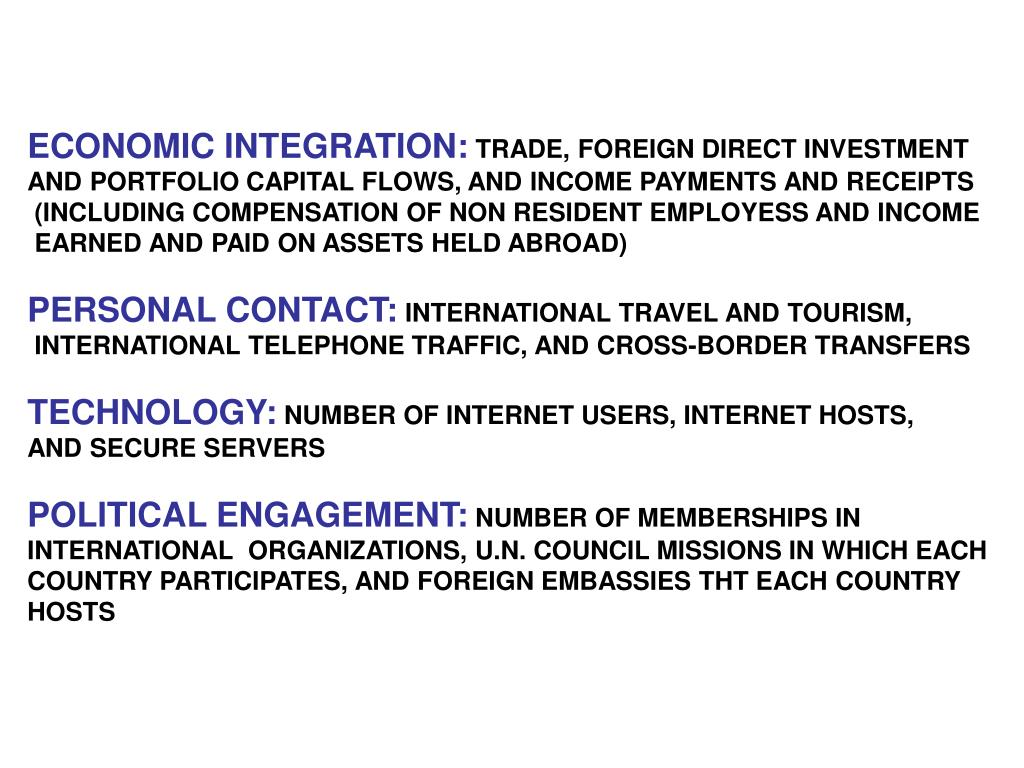 ECONOMIC INTEGRATION: