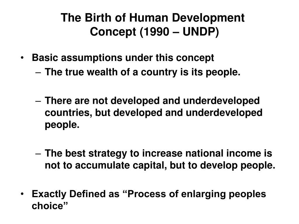 The Birth of Human Development