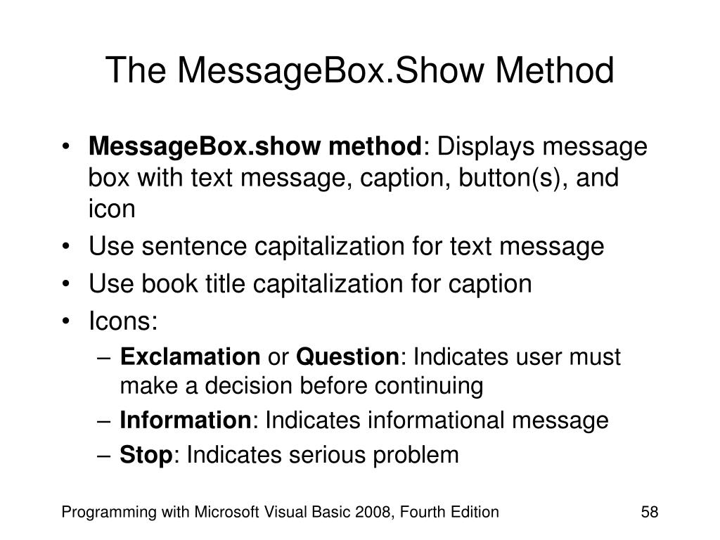 The MessageBox.Show Method