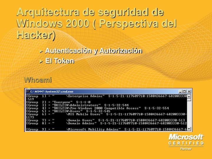 Arquitectura de seguridad de Windows 2000 ( Perspectiva del Hacker)