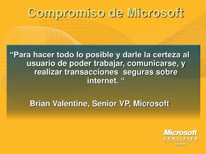 Compromiso de Microsoft