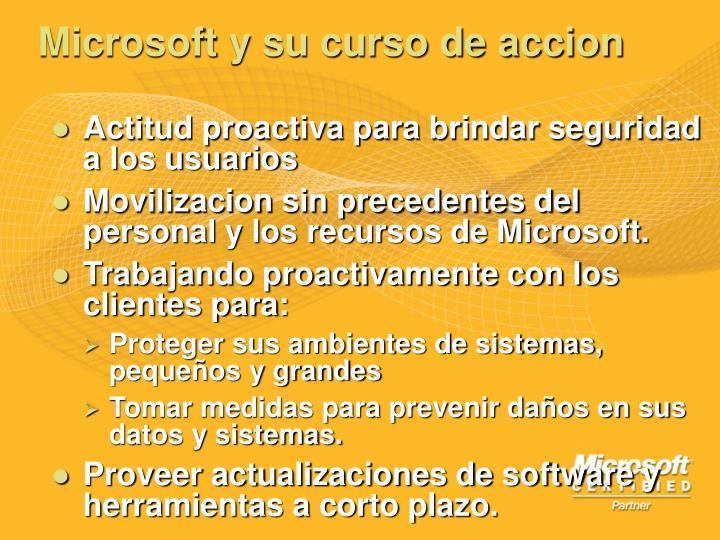 Microsoft y su curso de accion