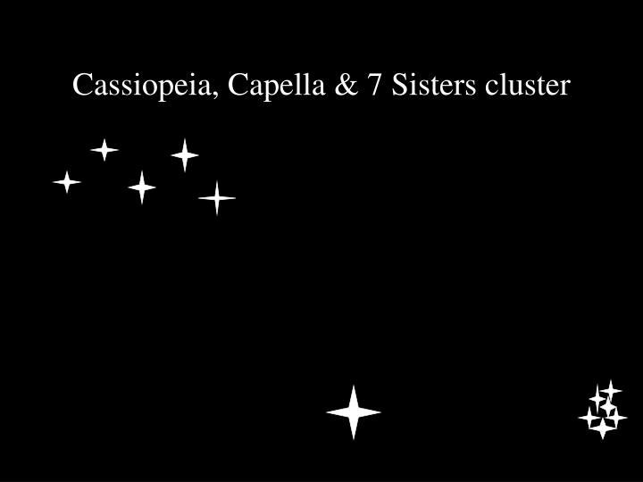 Cassiopeia, Capella & 7 Sisters cluster