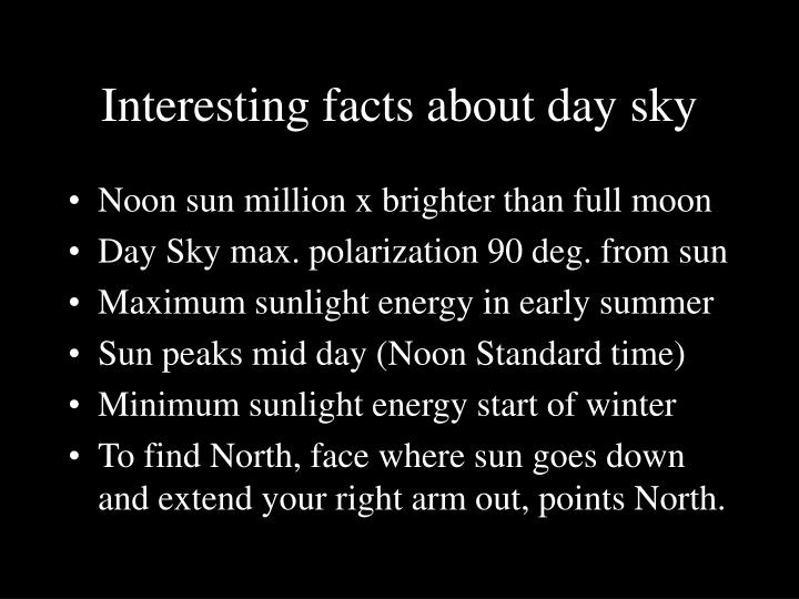 Interesting facts about day sky
