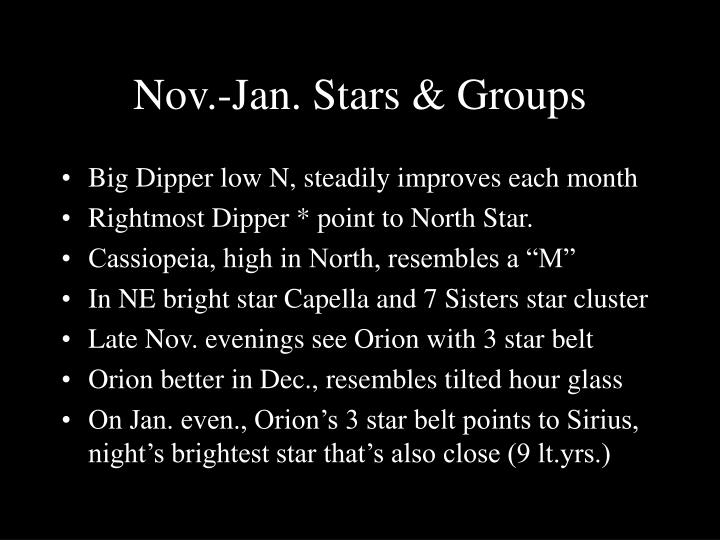 Nov.-Jan. Stars & Groups