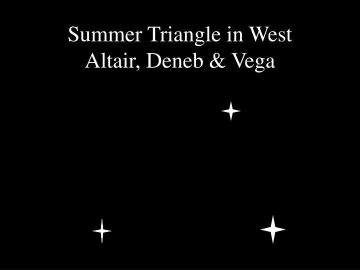Summer Triangle in West