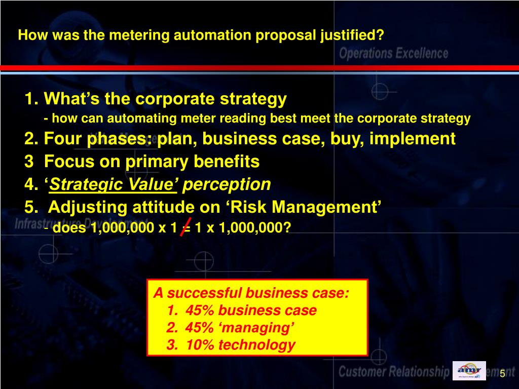 How was the metering automation proposal justified?