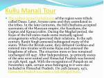 kullu manali tour