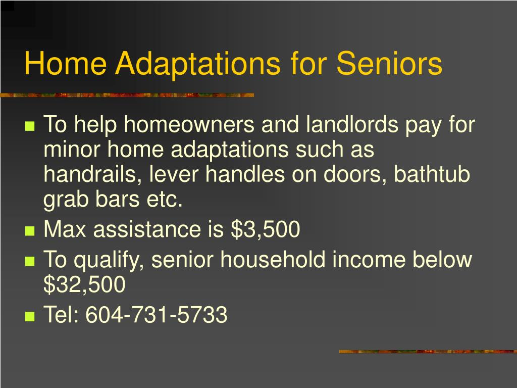 Home Adaptations for Seniors