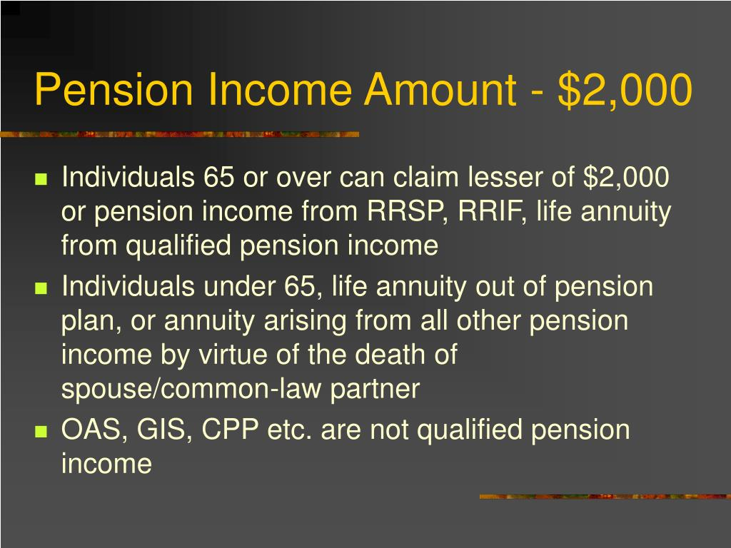 Pension Income Amount - $2,000
