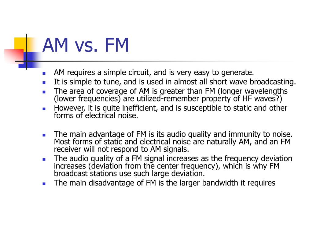 AM vs. FM
