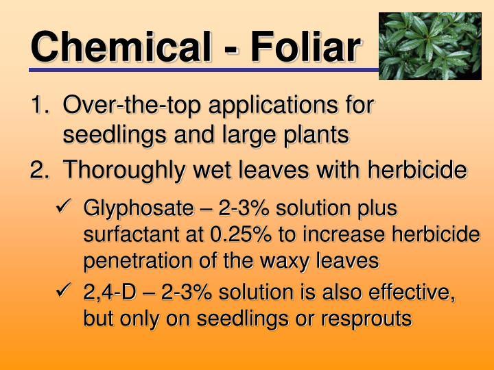 Chemical - Foliar