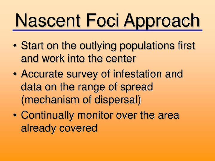 Nascent Foci Approach