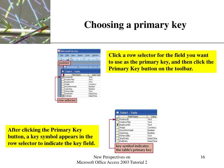 Choosing a primary key