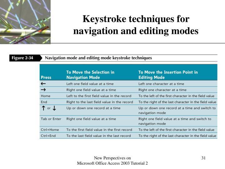 Keystroke techniques for