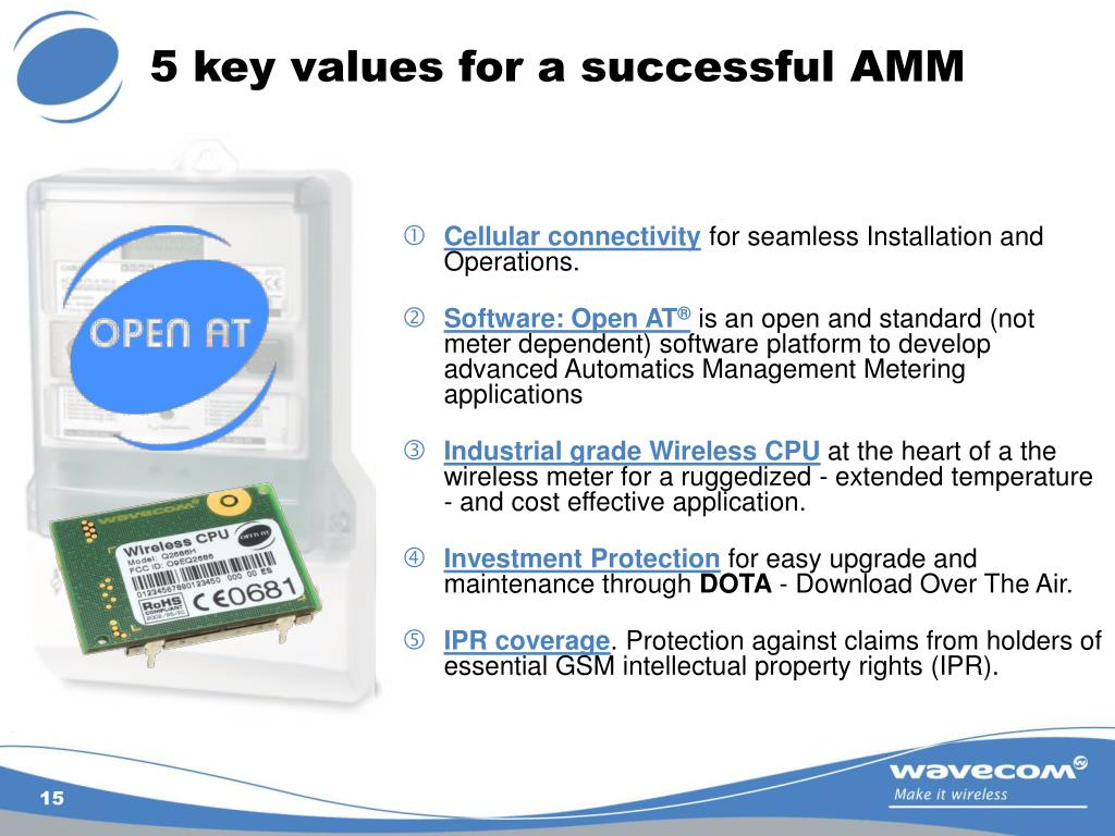 5 key values for a successful AMM