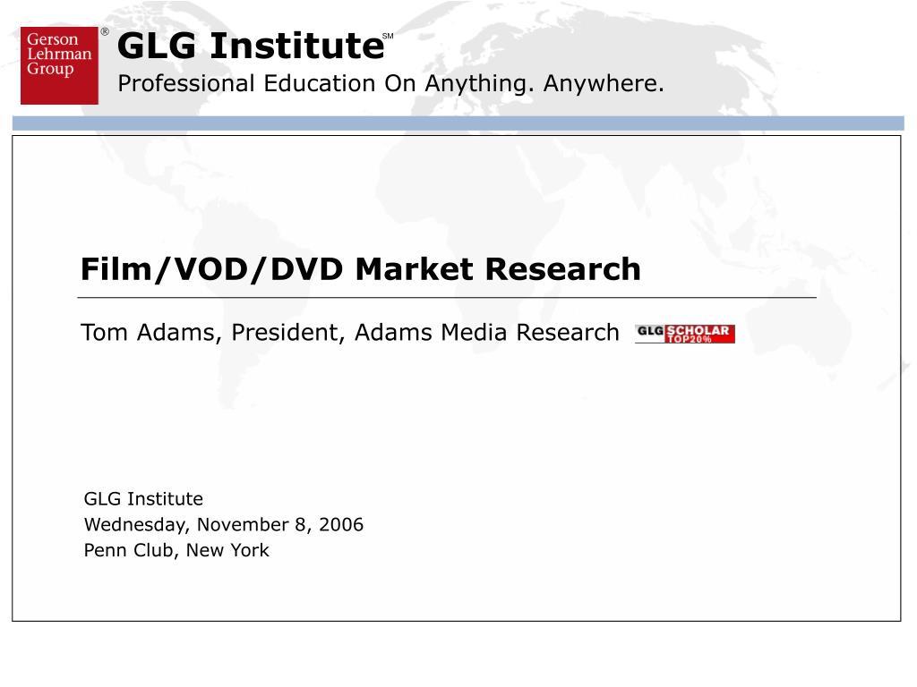 Film/VOD/DVD Market Research