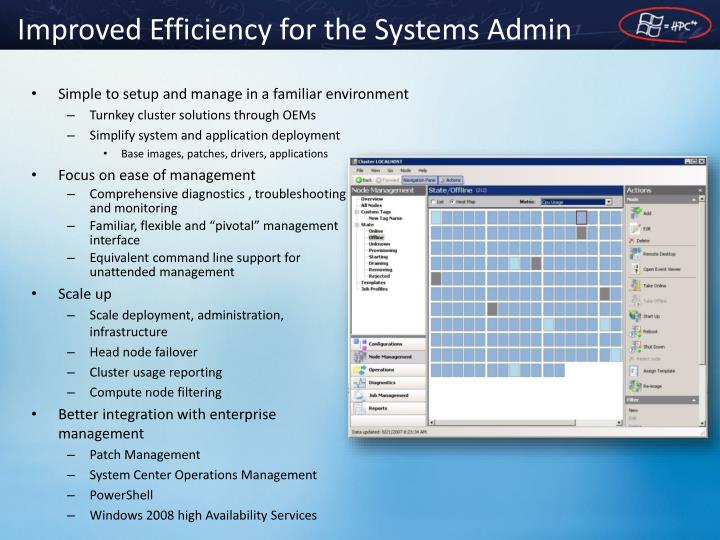 Improved Efficiency for the Systems Admin