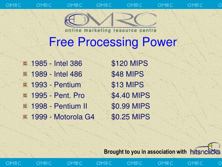 Free Processing Power