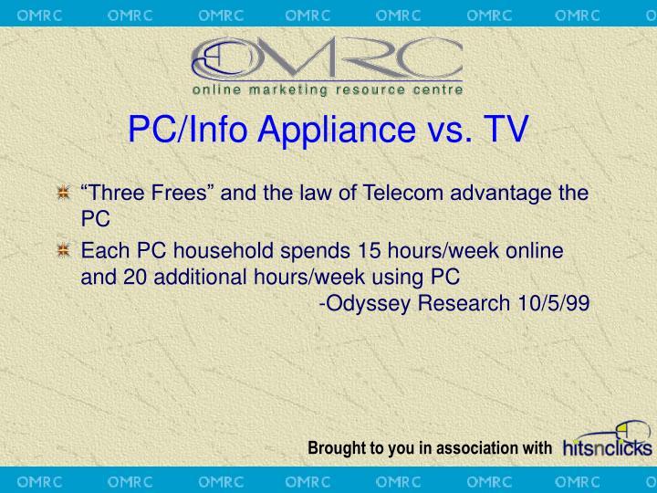 PC/Info Appliance vs. TV