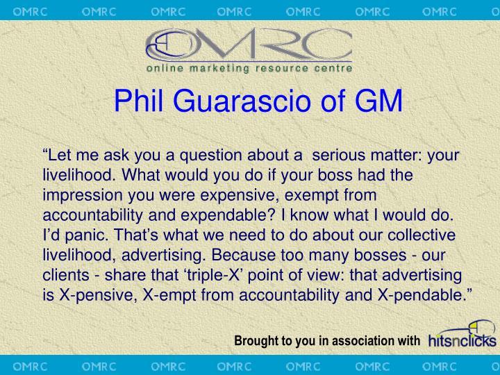 Phil Guarascio of GM