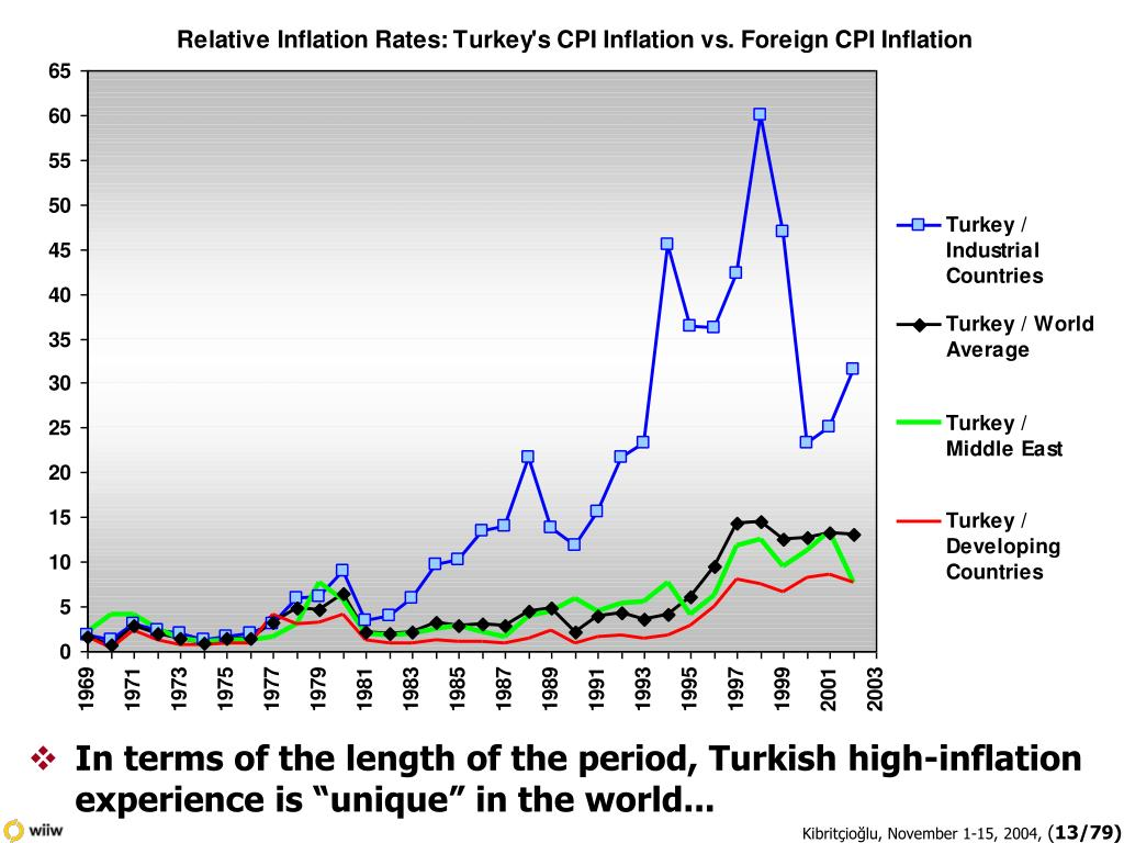 """In terms of the length of the period, Turkish high-inflation experience is """"unique"""" in the world..."""