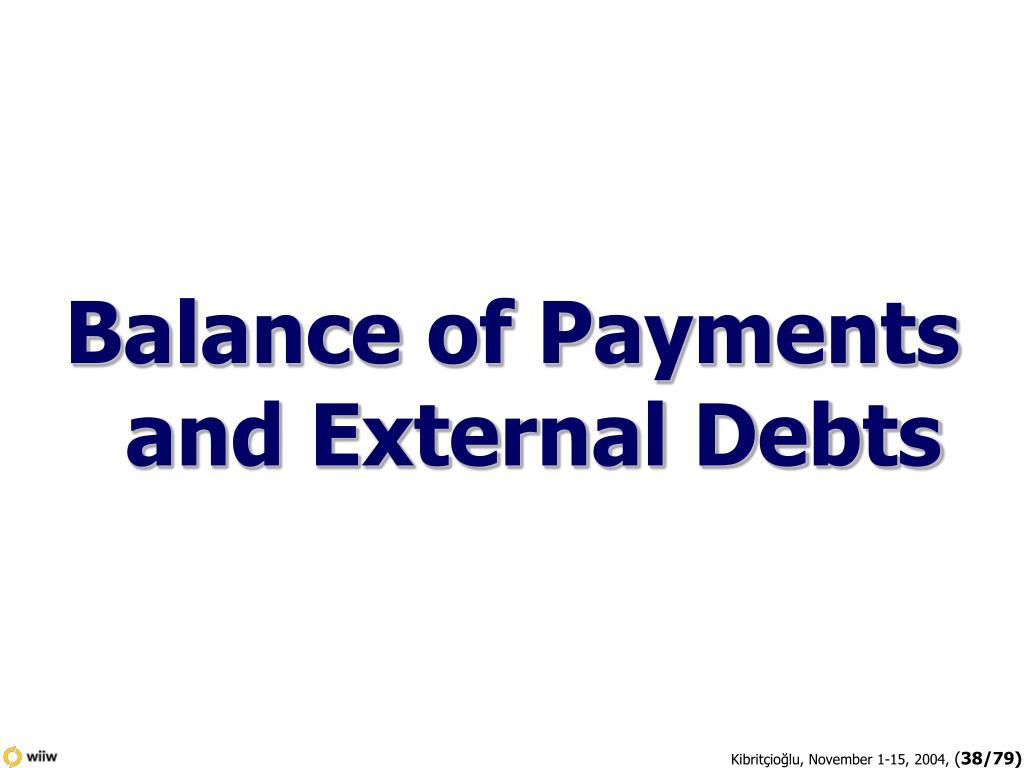 Balance of Payments and External Debts