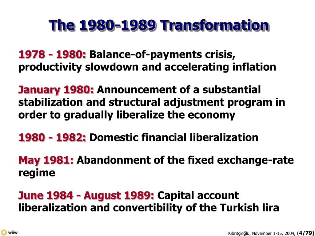 The 1980-1989 Transformation
