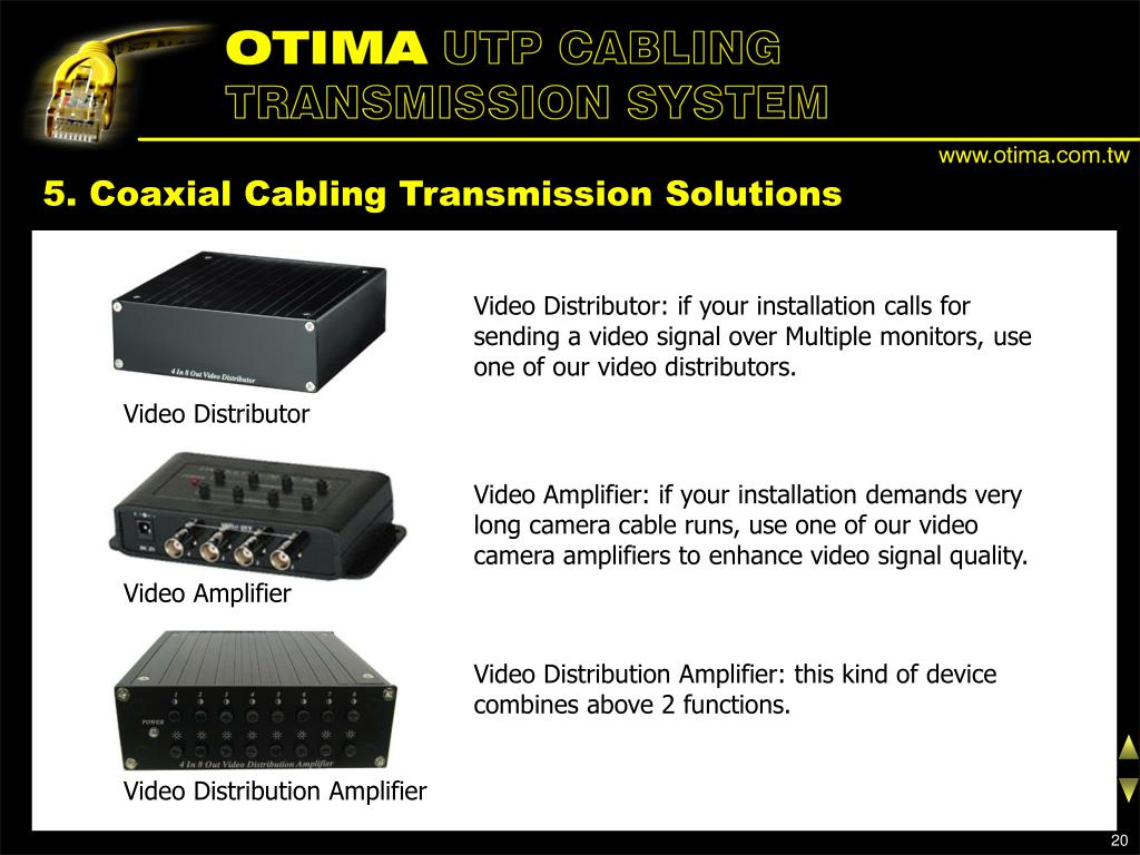 5. Coaxial Cabling Transmission Solutions