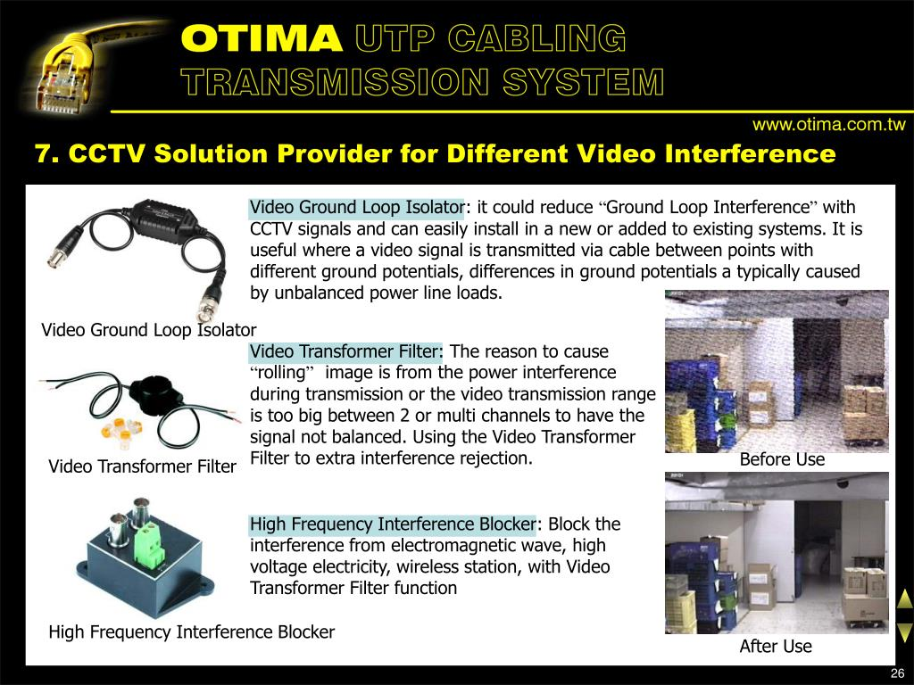 7. CCTV Solution Provider for Different Video Interference
