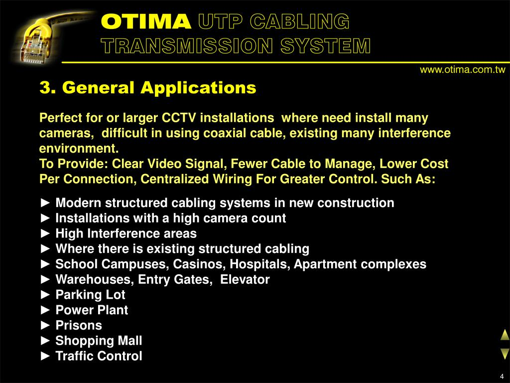 3. General Applications