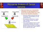microarray analysis of cancer genome