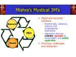 mishra s mystical 3m s