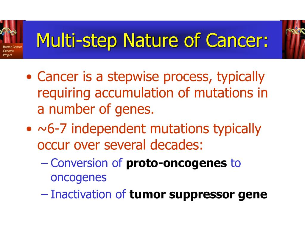 Multi-step Nature of Cancer: