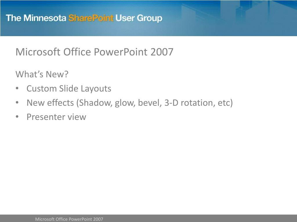 Microsoft Office PowerPoint 2007