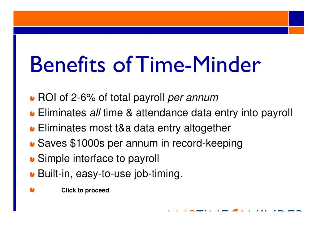 Benefits of Time-Minder